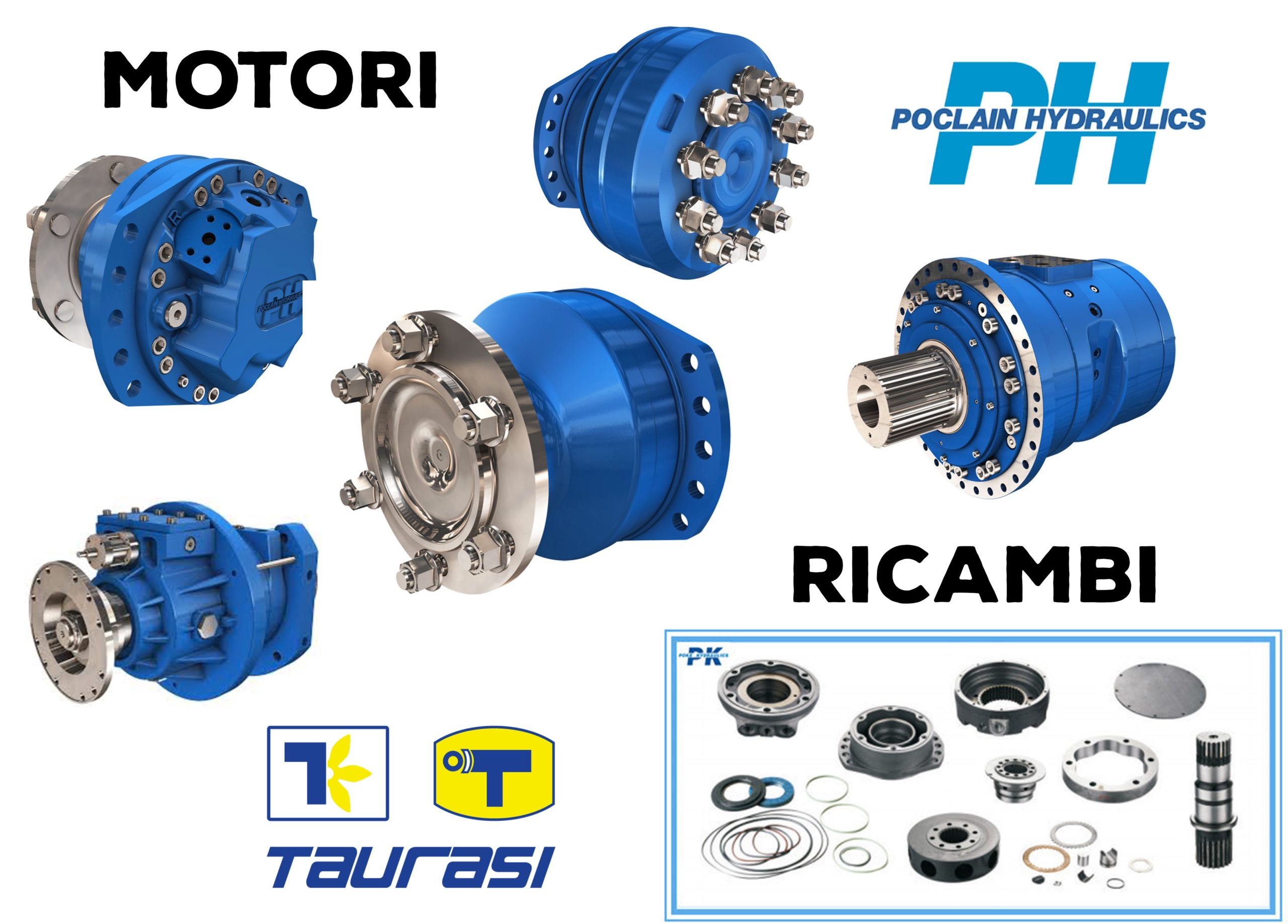 Ricambi e Motori PH Poclain Hydraulics